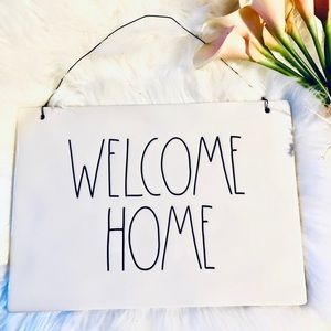Rae Dunn WELCOME HOME Large Ceramic Hanging Sign